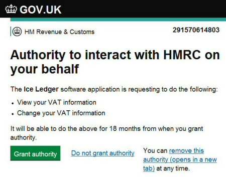 Authority to interact with HMRC on your behalf